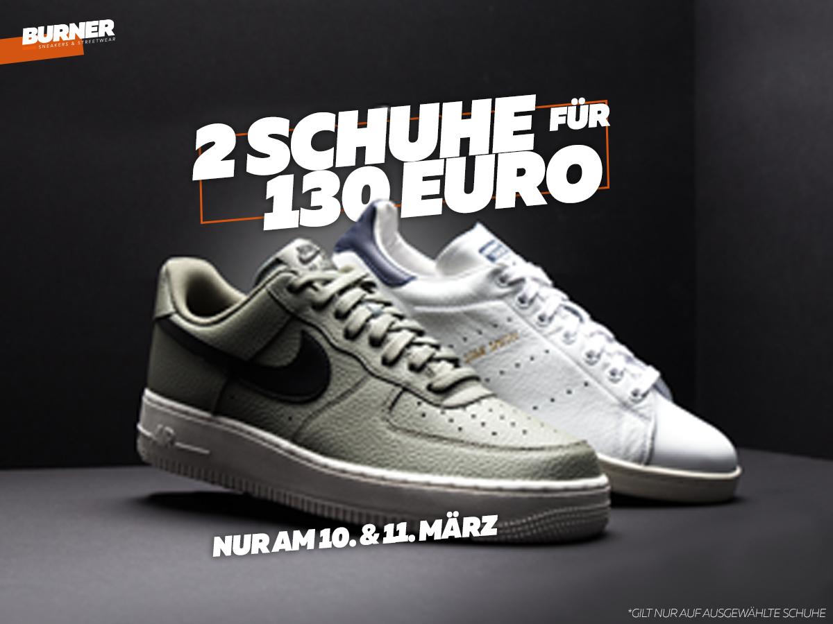 2 paar Marken-Schuhe von Nike, Adidas, Reebok und mehr... für 130€