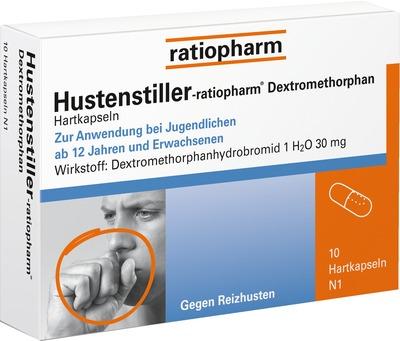 HUSTENSTILLER ratiopharm Dextromethorphan Kapseln 10 Stück für 2,45