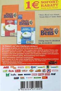 Uncle Ben's -1,00€ Sofort-Rabatt-Coupon auf 1x Uncle Bens loser Reis [Bundesweit]