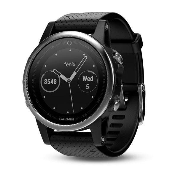 Garmin Fenix 5S Silber/Schwarz Sportuhr Smart Watch