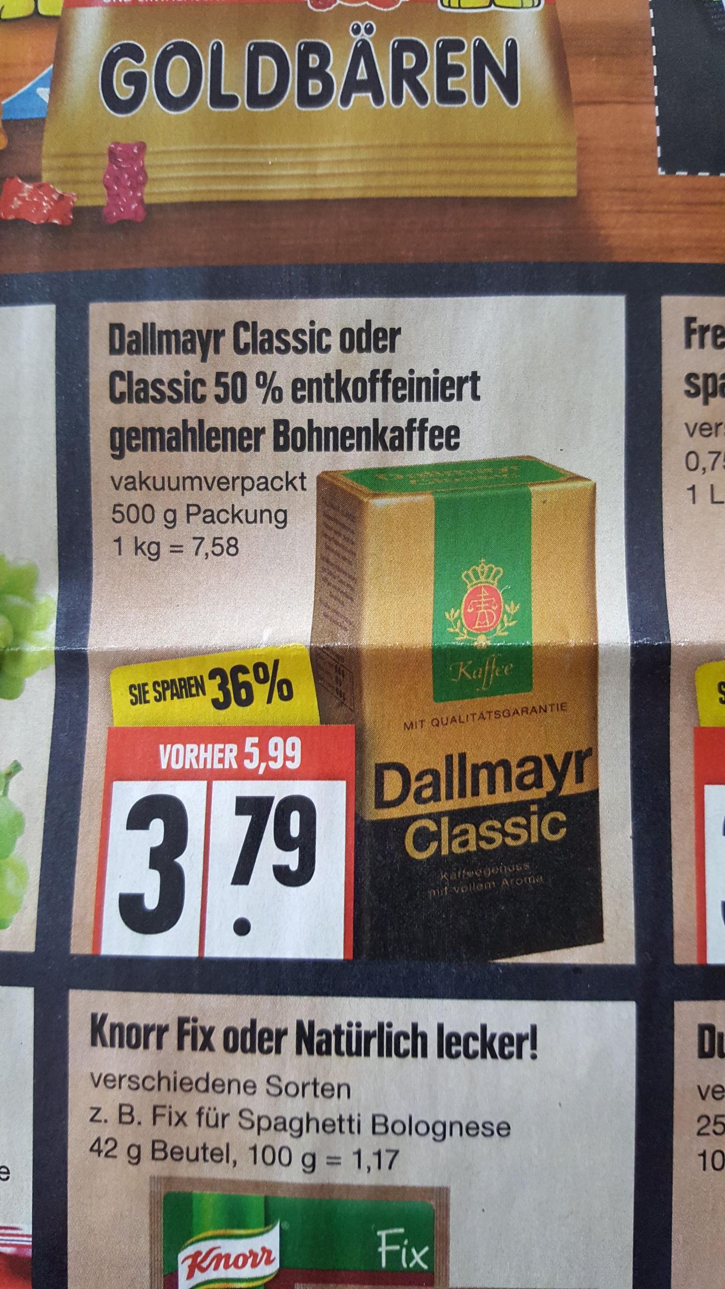 [EDEKA] Dallmayr Classic Kaffee 500g - bundesweit ab 12.3.
