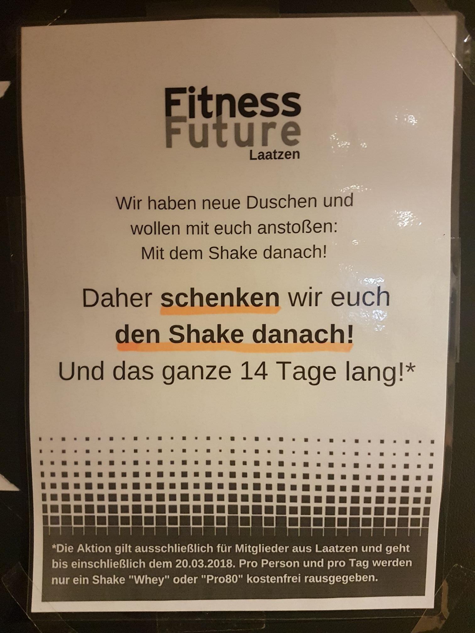 [Lokal Hannover] Gratis Protein-Shake 0,5 l bis zum 20.03