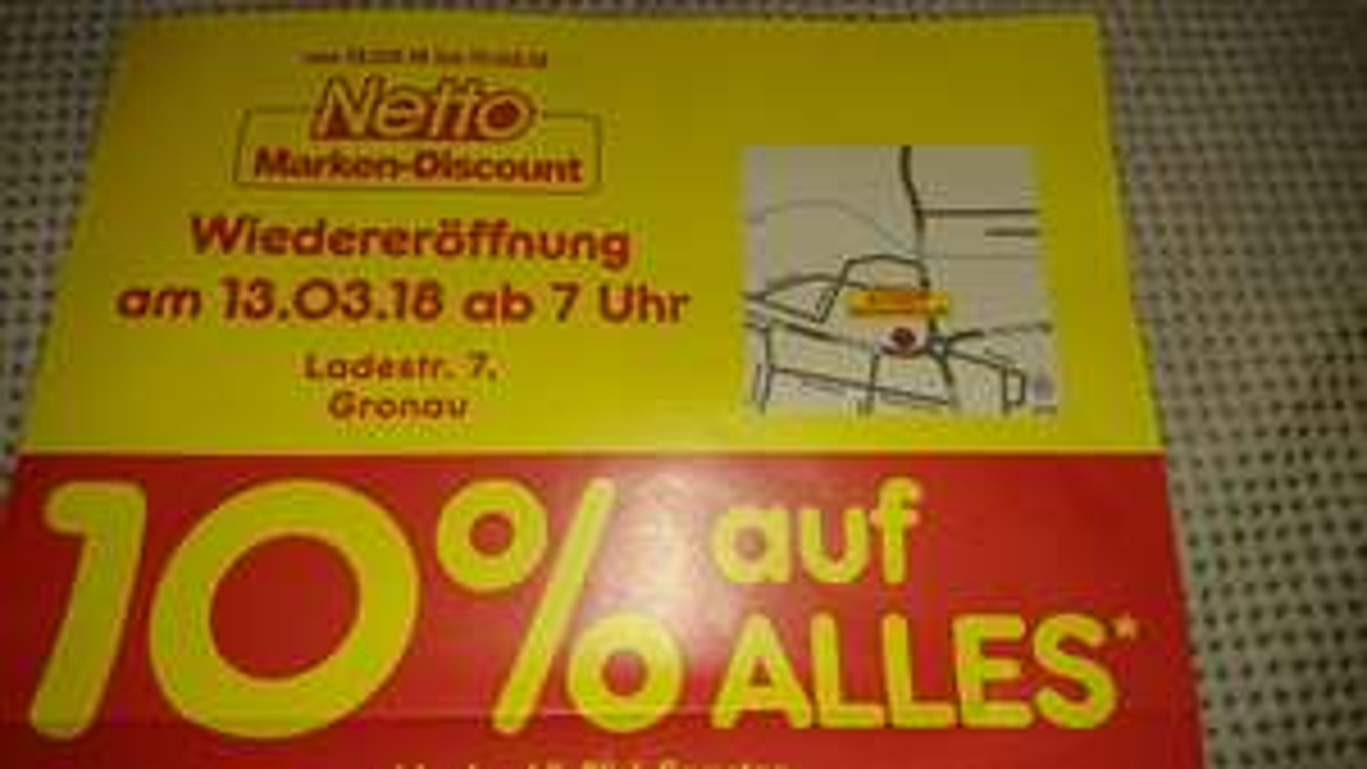 """Lokal: Netto Gronau (Leine) - 10% auf das """"gesamte"""" Sortiment (13.03. - 17.03.) Update: Sammeldeal Netto Neueröffnungen ab 13.03."""