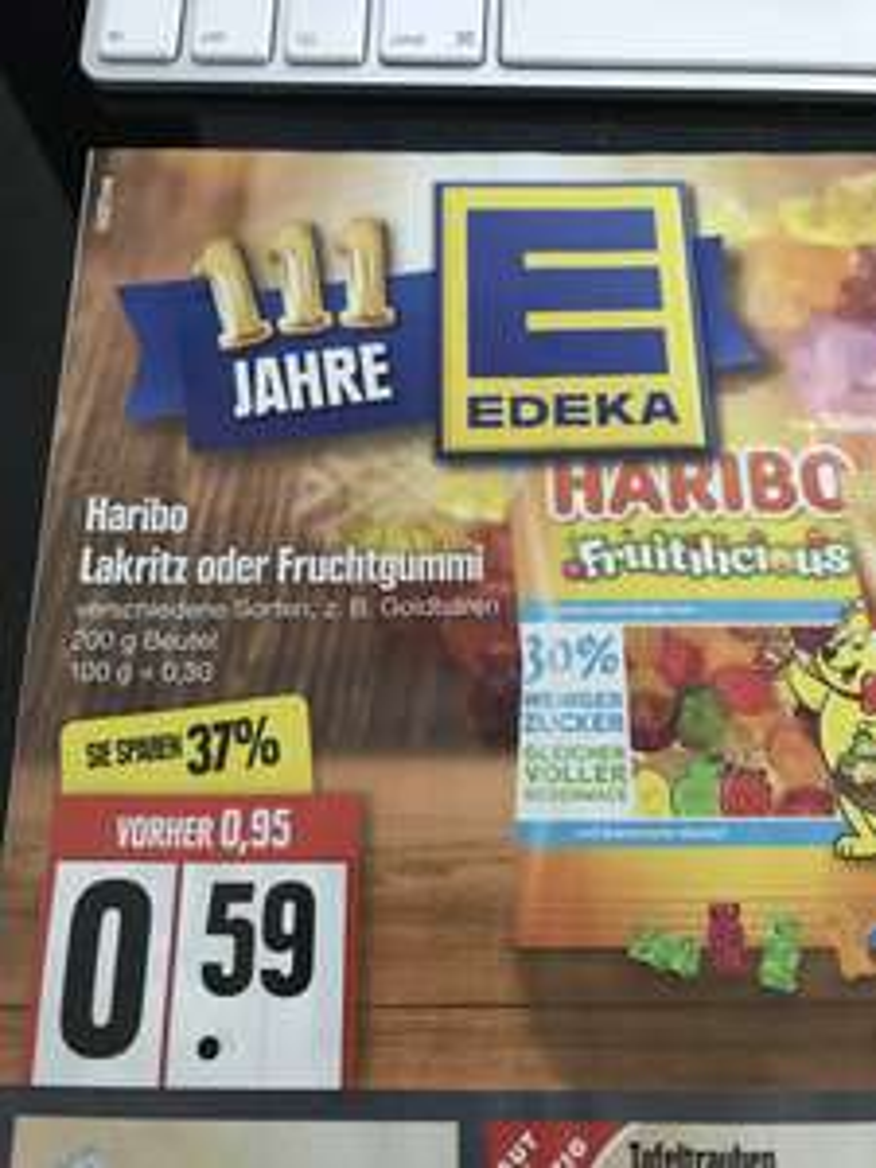 ( Edeka Nord ) Haribo Fruitilicious Fruchtgummis mit Coupies Rabatt