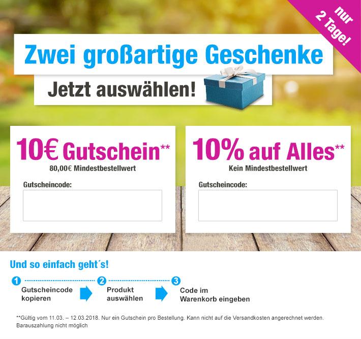 Du hast die Wahl! GartenXXL 10,-€ Gutschein oder 10% Rabatt?!