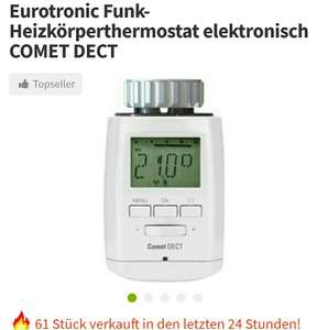 Eurotronic Funk-Heizkörperthermostat elektronisch COMET DECT für AVM Fritz Box