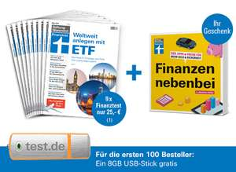 """9x Finanztest für 25€ + """"Finanzen nebenbei"""" gratis"""