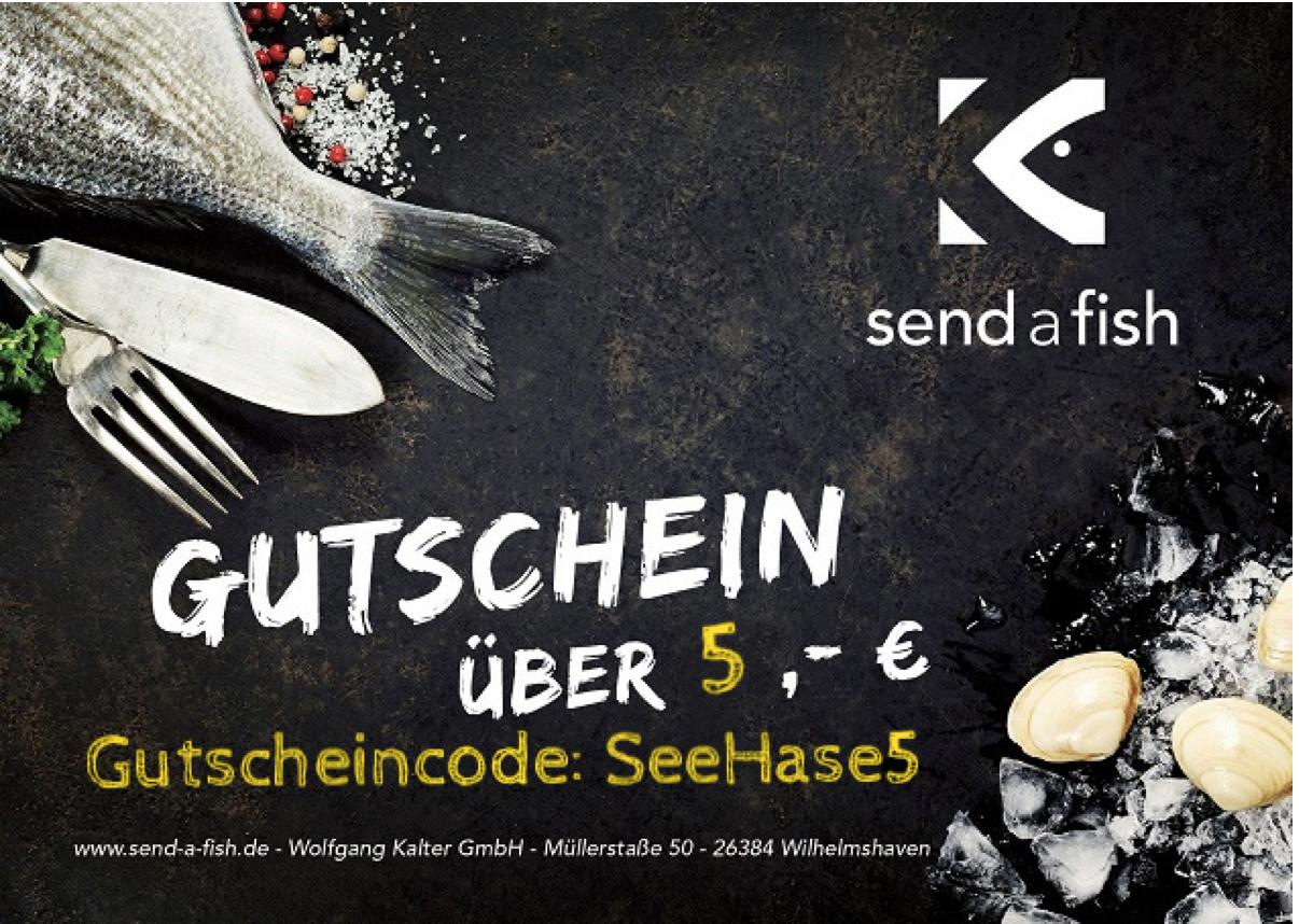 5€ send a fish Gutschein