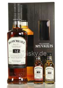 bowmore 12 jahre mit 2 0 05er proben 15 jahre und no 1. Black Bedroom Furniture Sets. Home Design Ideas