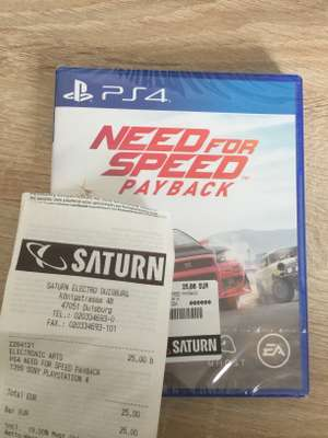 [Lokal] Saturn Duisburg - Need for Speed Payback PS4