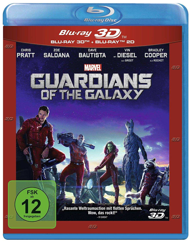Guardians of the Galaxy 3D (3D Blu-ray + 2D Blu-ray) für 10,99€ (CeDe)