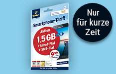 1,5GB samt Allnet-Flat (Voice + SMS) von Tchibo Prepaid für 9,99 Euro alle 4 Wochen