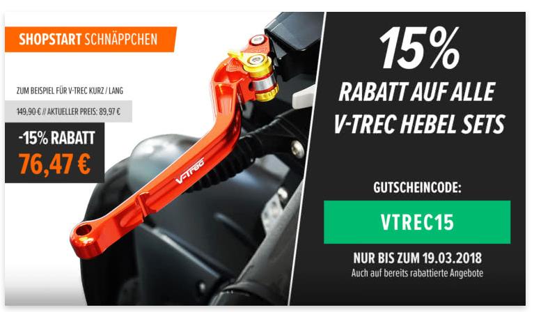15% auf alle V-Trec Hebel & Zentralständer bei Motea.com