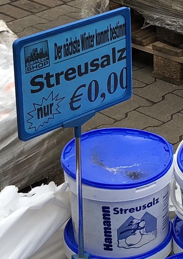 [Centershop Lünen] Streusalz 0,00€ (Verschiedene Säcke und Eimer)