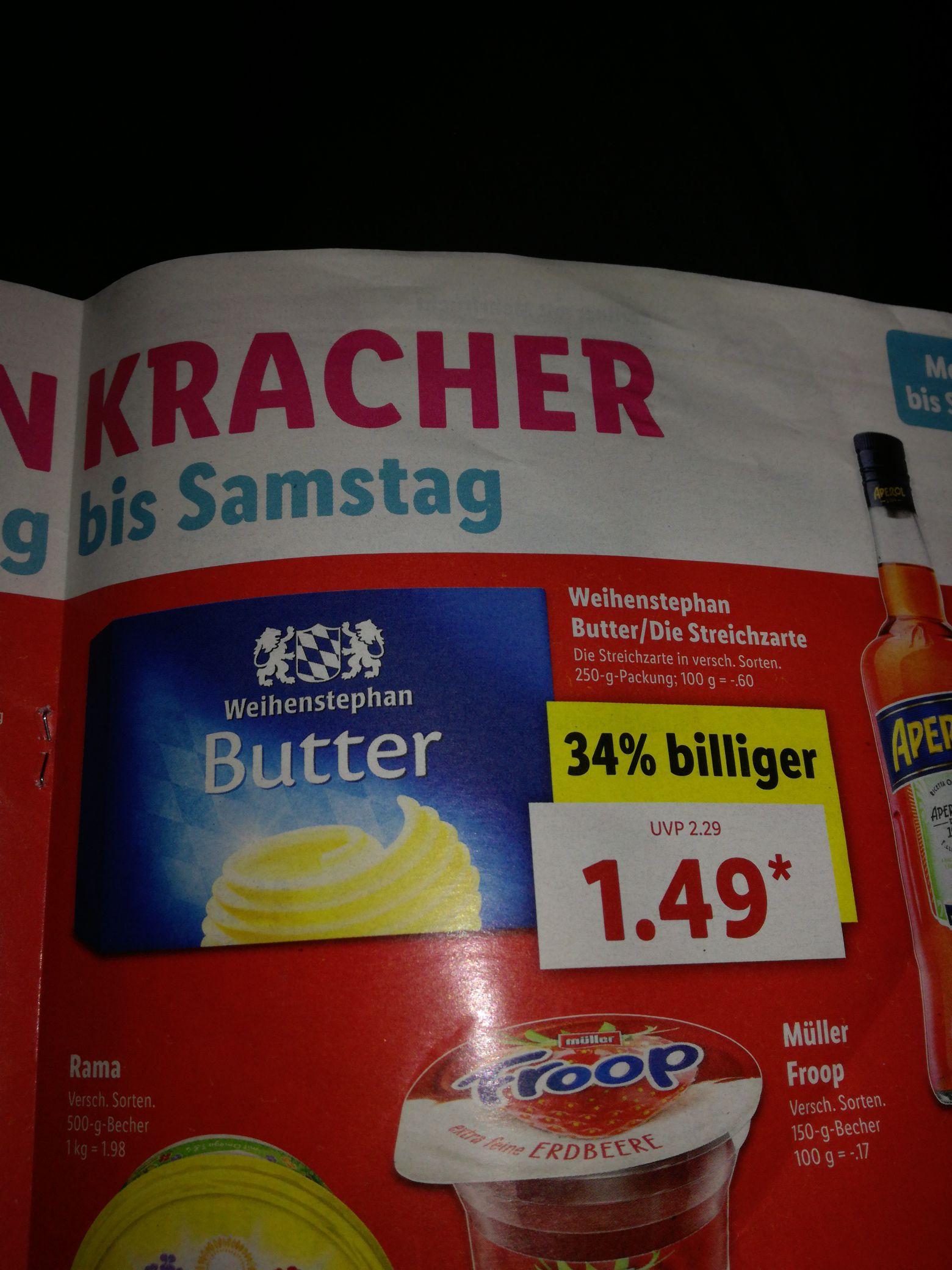 (LIDL) Weihenstephan Butter