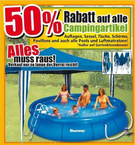 50% auf alle Camping-Artikel @ Thomas Philipps [bundesweit]