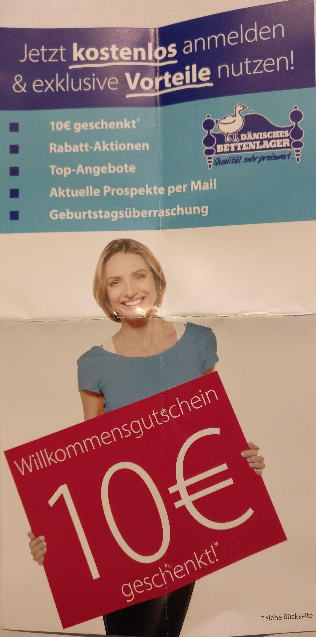 Dänisches Bettenlager Newsletter Anmeldung 10 Euro Gutschein 75 Euro Mindestbestellwert