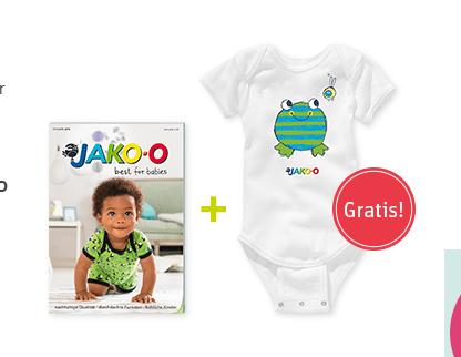 Kataloganfordern und Gratis Body für Babys erhalten.