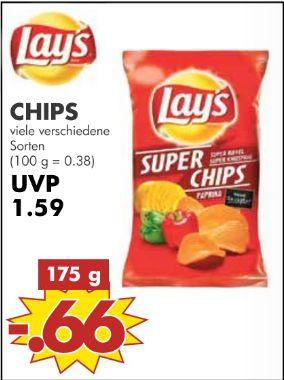 [Ab 21.03 in allen JAWOLL Sonderposten Märkten) Lay´s SUPER Chips-Verschiedene Sorten je 175g Packung für nur 0,66€