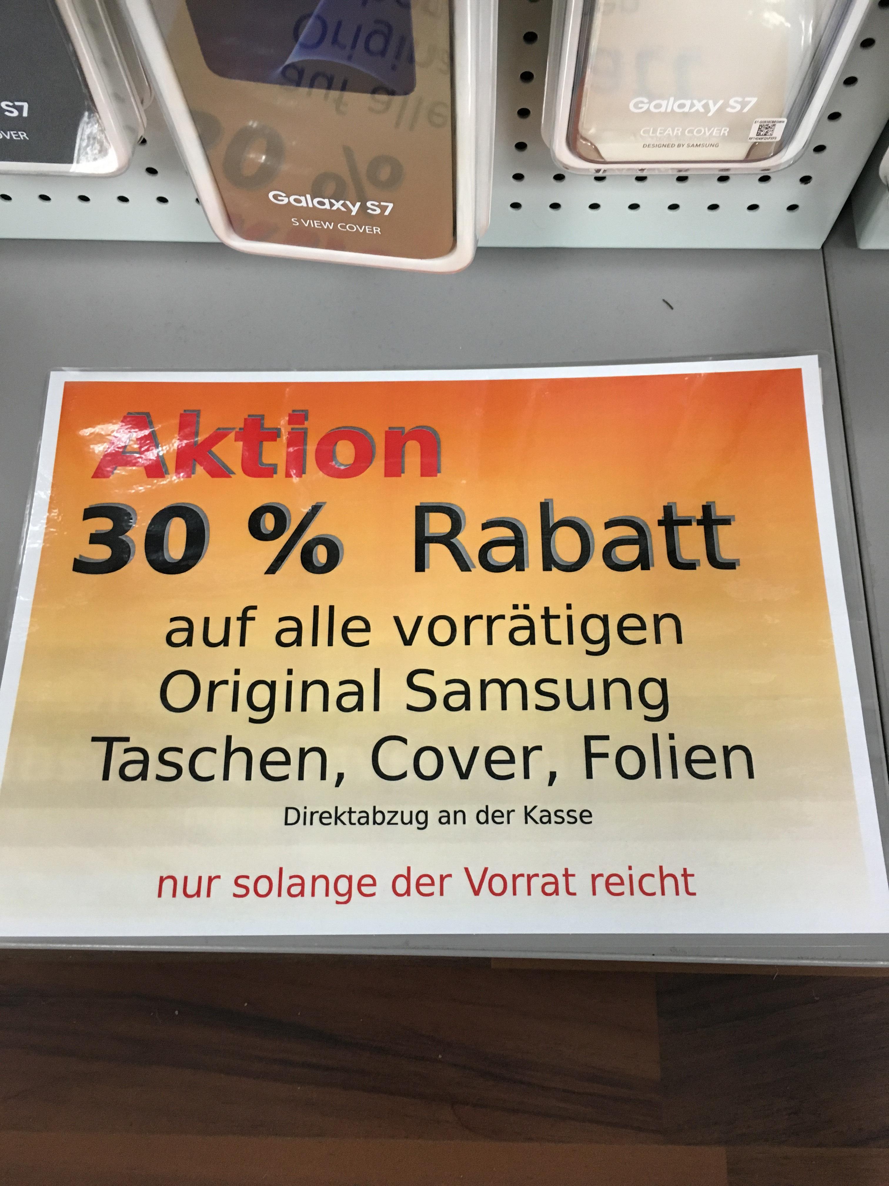 [Lokal] 30% Rabatt auf Samsung Taschen