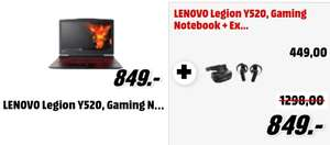 LENOVO Legion Y520, Notebook mit 15.6 Zoll Display, Core™ i5 Prozessor, 8 GB RAM, 1 TB HDD, 128 GB SSD, GeForce GTX 1050, Schwarz + LENOVO Explorer Mixed-Reality Headset + Controller