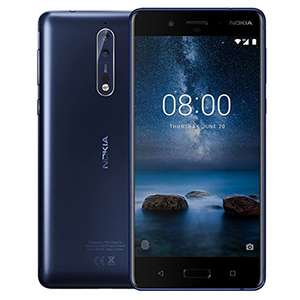 "Nokia 8: 5,3"" QHD, Snapdragon 835, 4GB RAM, 64GB UFS 2.1, 13 MP f/​2.0 Kamera, USB-C, Wlan ac, NFC, Metall Rückseite, Android 8 für 339,18€ (Amazon.it)"