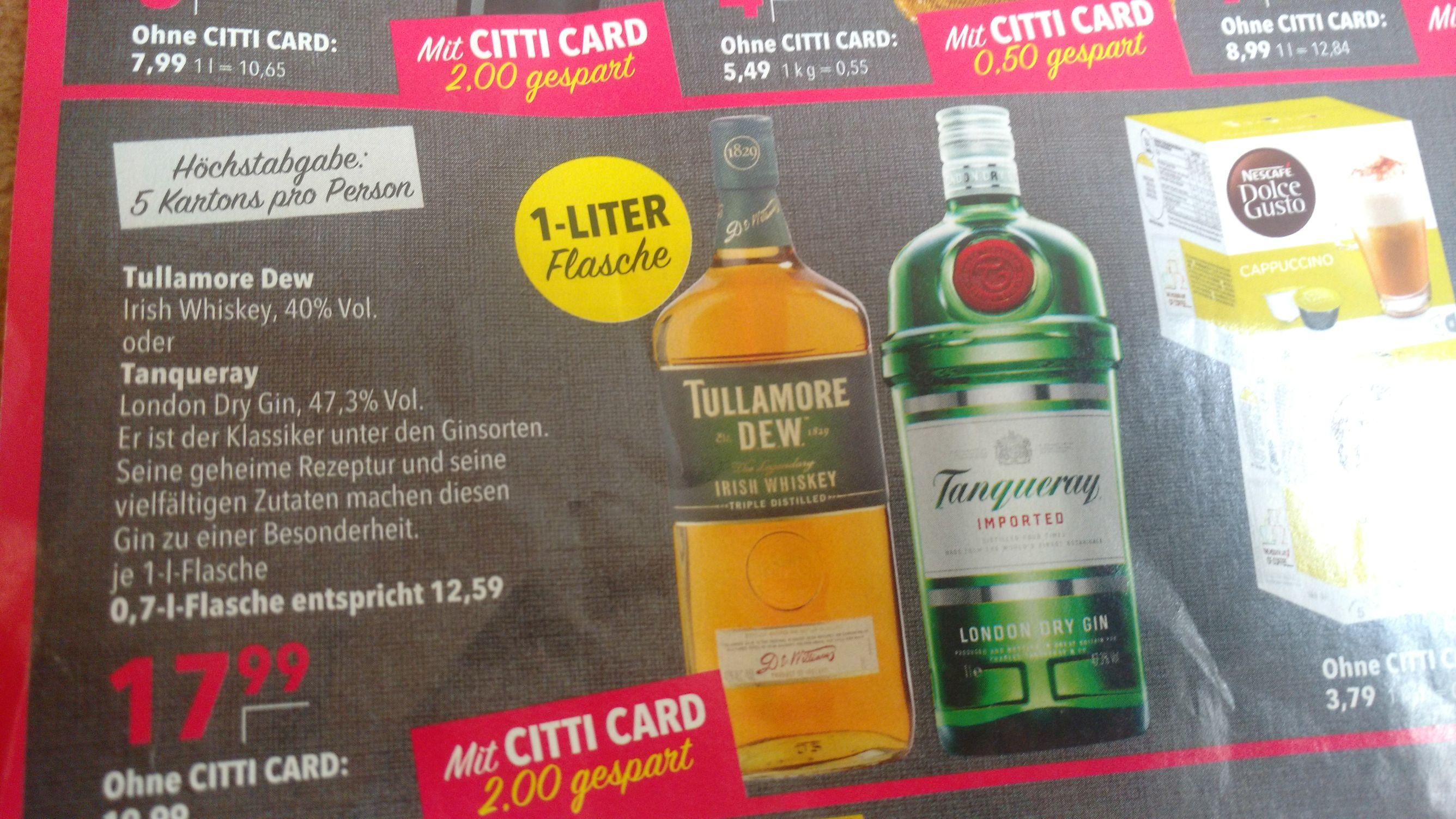 Tullamore Dew / Tanqueray - Lokal - Citti Märkte