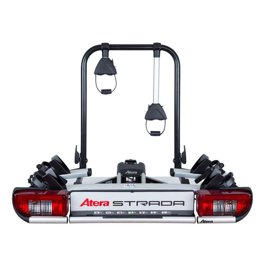 Atera Fahrradheckträger Strada E-Bike M Black Edition mit Wandhalterung, exklusiv bei A.T.U - Trägersystem für 2 E-Bikes