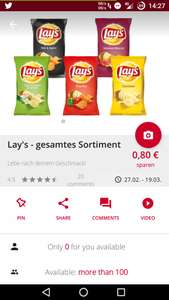 [scondoo][LIDL] Lay's Chips Classic 175g (paprika/sour cream)