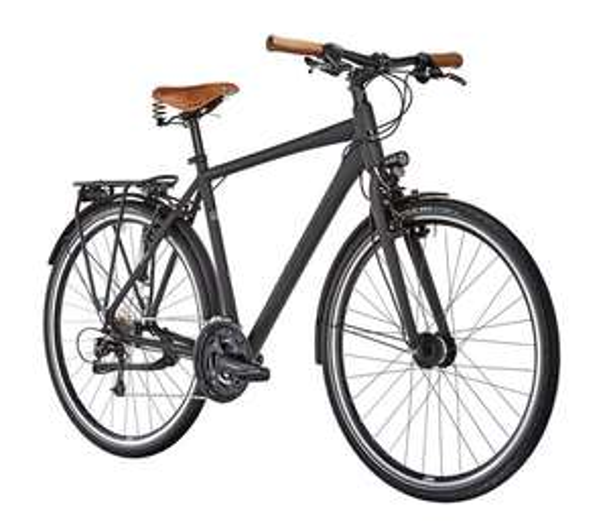 Ortler Meran Trekking Fahrrad schwarz matt, 27 Gänge, 50 / 55 / 60er Rahmen