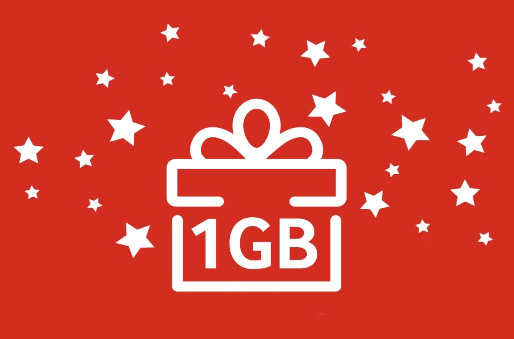 Vodafone verschenkt 1GB in der Vodafoneapp