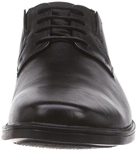 Clarks Tilden Plain Herren Derby Schnürhalbschuhe, Größe 43, Farbe: schwarz