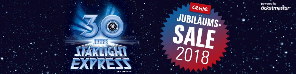 Starlight Express: PK2 30 €/PK1 60 € nur buchbar Sa & So für Vorstellungen bis 23.12.