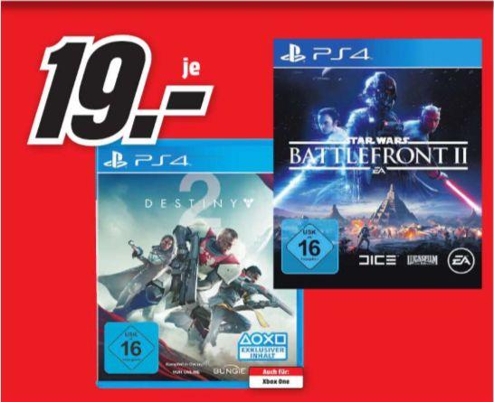 [Regional Mediamarkt Dortmund) Star Wars: Battlefront 2 (PS4) und Destiny 2 (PS4) für je 19,-€