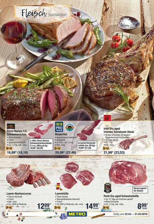 [Metro] Dry-Aged Irisches Tomahawk-Steak für 23,53 €/kg vom 22.03. - 28.03.