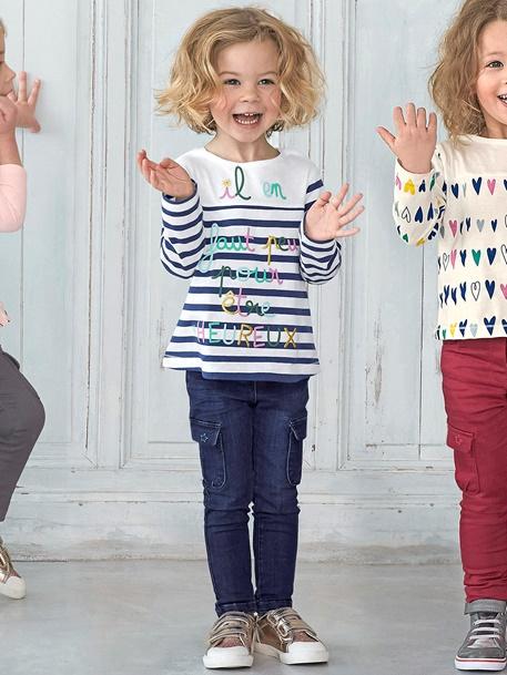 Jeans für Mädchen (Gr. 86 - 128) in 3 Passformen (Slim / Regular / Comfort) mit Taschen
