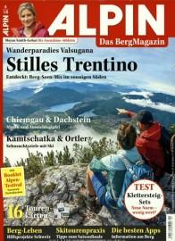 Bergsportmagazin Alpin Abo für 1 Jahr (12 Ausgaben) für 70,80 € mit 65 € Amazon-Gutschein oder 60 € Verrechnungsscheck