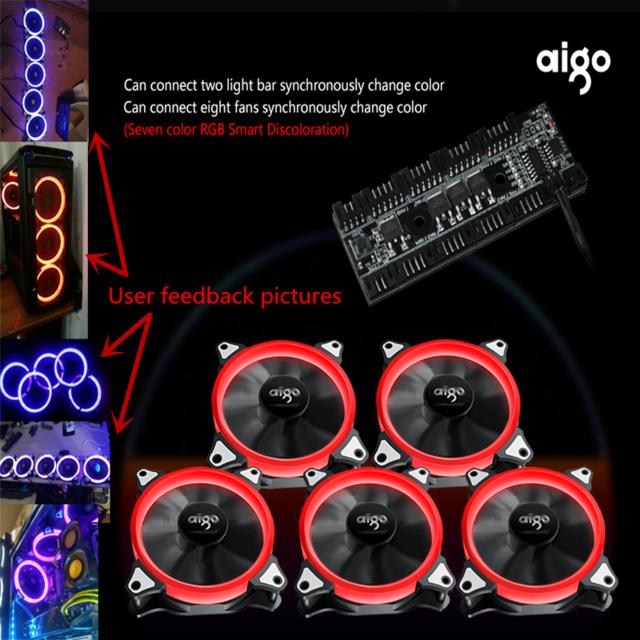 5 Leise RGB Lüfter + Controller und cashback für nur 30€