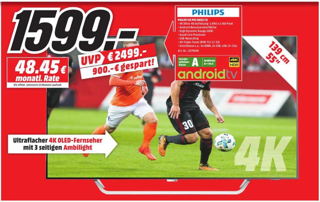[Lokal MediaMarkt Bochum] Philips 55POS9002 OLED TV