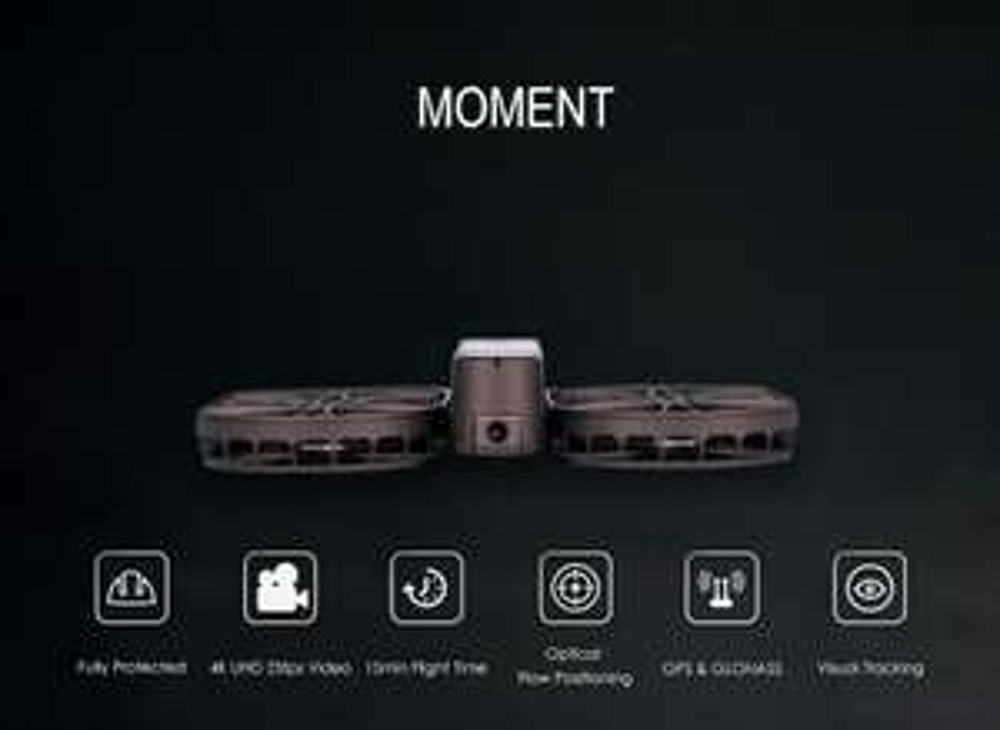 Faltbare Airselfie Drohne   4K Kamera mit Stabiliesierung bei Banggood!