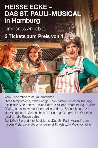 Hamburg: 2:1 Musical Heiße Ecke über Laviva für Vorstellungen vom 12.6. bis 30.8.
