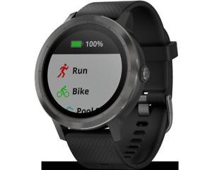 "Garmin Vivoactive 3 schwarz grau gunmetal ""NEU Sonstige"" Smartwatch GPS Wasserdicht Media Markt Goslar ebay store"
