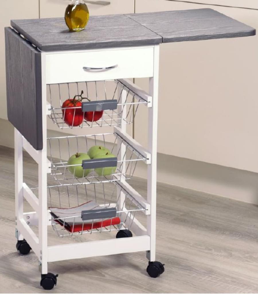 [real.de] Kesper Küchenwagen mit ausklappbaren Seitenflächen