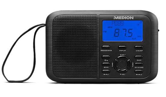 [medion] MEDION® LIFE® E66343 PLL Weltempfänger, LCD Display mit blauer Hintergrundbeleuchtung (B-Ware)