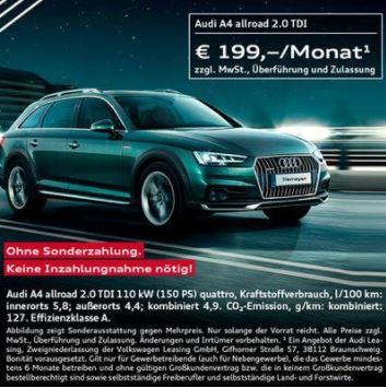 [LEASING] Audi A4 allroad 2.0 TDI 110 kW (150 PS) quattro bei Tiemeyer