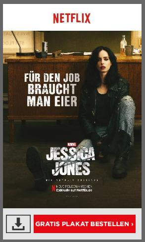 Gratis Filmplakate von Netflix - 2. Staffel Jessica Jones
