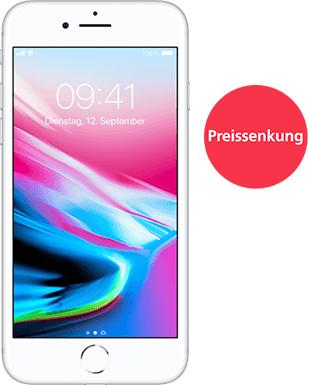 Apple iPhone 8 [OHNE Vertrag] für monatlich 26€ + 49€ einmalig + VSK 4,99€ wenn man nicht in einen O2 Shop geht
