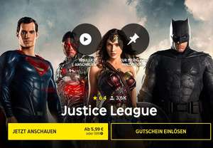 [Rakuten TV] Justice League 5,99€ in SD - HD 7,99€ + 70% Shoop Cashback -  IMDB 6,8/10