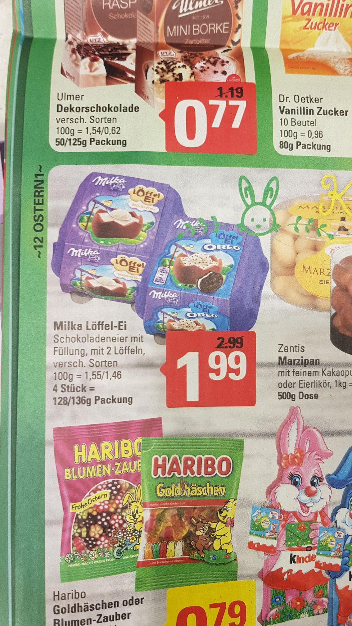Marktkauf 19.03 Milka Löffel-Ei für 1,99€ statt 2,99€ bzw. 2,49 im Angebot
