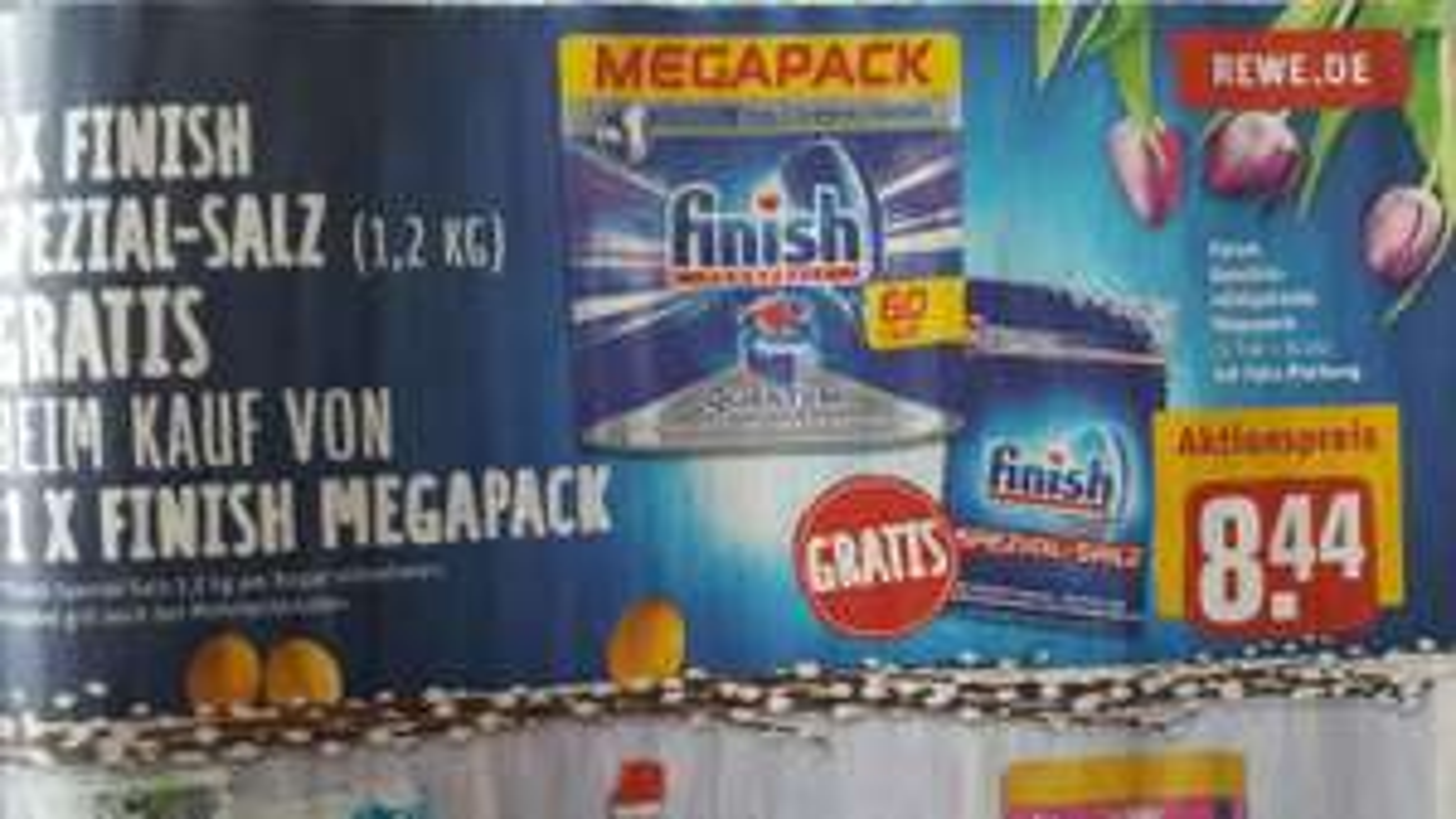 [Lokal / REWE] finish Powerball Geschirrreinigertabs Quantum (60 Stk.) Megapack + Gratis finish Spezial-Salz (1.2 kg)